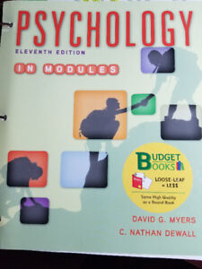 Psychology In Modules  PSYC1010