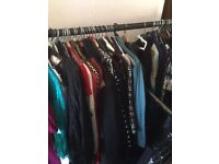 Job lot of more than 200 ladies clothes, shoes and accessories