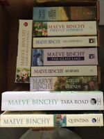 MAEVE BINCHY BOOKS-3 boxes of titles