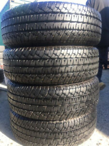 215/55R17 MICHELIN DEFENDER SET OF 4 used tires 75% tread left