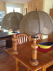 Solid Maple Lamps