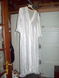 ANTIQUE SILK AND LACE NIGHTIE