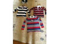 Boy 7-8 rugby style tops
