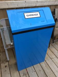 Metal Garbage Cans.