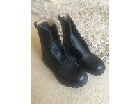 Size 7 Black Military Style Boots