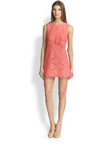 BCBG Max Azria Coral Lace Mini Dress