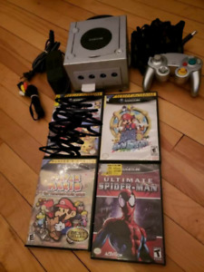 Gamecube with 1 controller, 3 games and 128 mb memory card