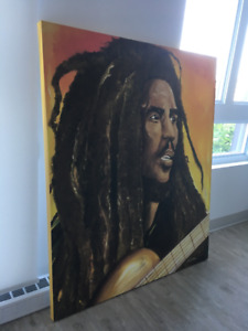 2 Tableaux neufs Bob Marley/2 Brand New Paintings: Big discount!