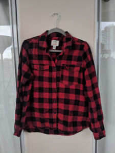 Cozy Red/Black Flannel- Large