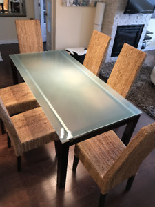 Dining table with chairs and coffee tables, set or separate
