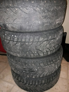 Winter studed tires 225/60/16