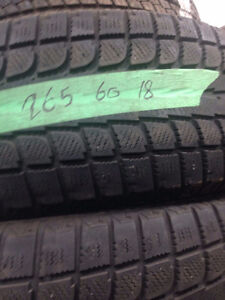 Excellent Condition Winter Tires 265/60/18
