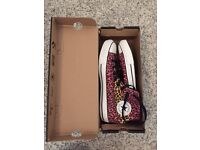 Converse high top trainers size 8
