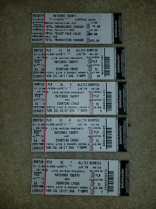 FLOOR TICKETS Matchbox Twenty + Counting Crows