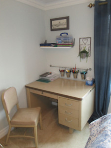 Retro Desk with Matching Chair