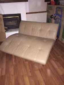 2 person leather chaise