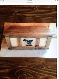 Brand new pine coffee table/blanket box hand made