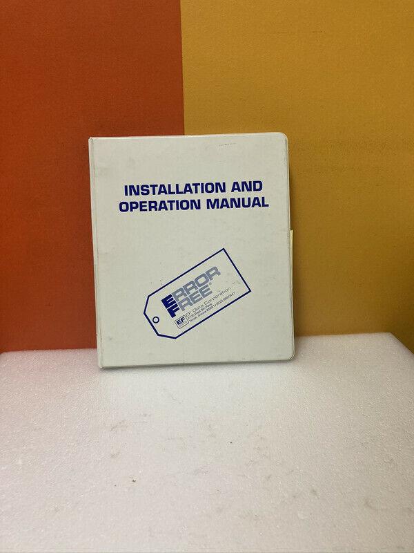 EF Data SDM-450 ED.2 Installation and Operation Manual
