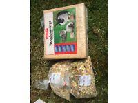 Rabbit food and wood shaving