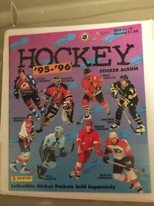 1995-96 NHL HOCKEY PANINI 306 STICKER SET WITH ALBUM & PAGES