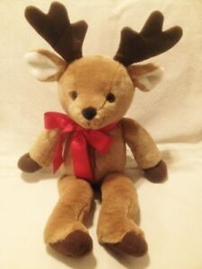 Lovely New Large Rudolph the Black Nosed Reindeer Plush Toy