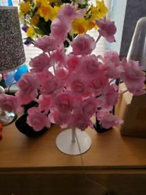Pink rose lamp