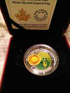 2014 Water-lily and Leopard Frog coin