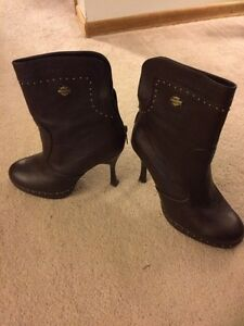 Leather Harley Davidson boots - size 8