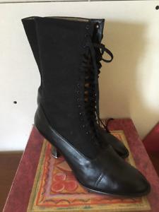 Vintage Western Lace Up Boots By Oak Tree