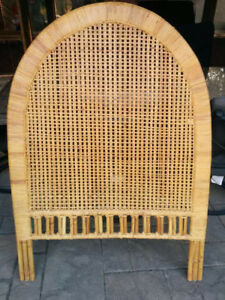 Wicker head board - single bed