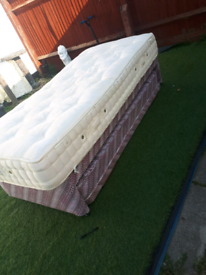 single divan with trundle bed and mattress