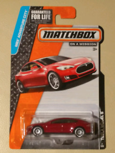 New Matchbox Tesla Red Model S sealed for.sell