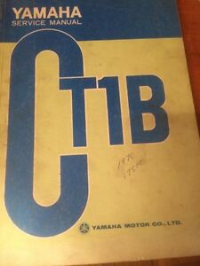 1970 Yamaha CT1B 175cc Service Manual