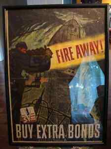 WW2 POSTER 1944 USA MILITARY-MILITAIRE