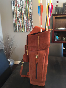 Archery Leather Back Quiver