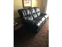 Lazy boy black leather recliner