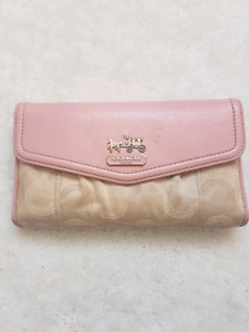 Authentic coach pink wallet