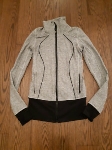 Lululemon XS zippered sweater jacket top
