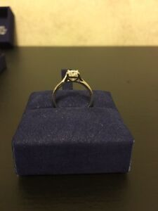 Hearts on Fire bridal twist engagement ring 0.76ct 18kt gold