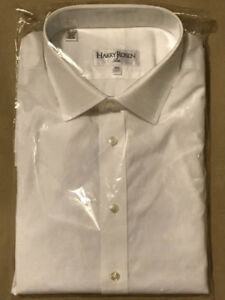 NEW HARRY ROSEN WHITE DRESS SHIRT 16.5/42, SLIM FIT