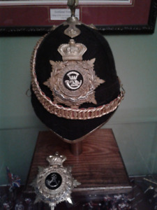 Blue Cloth British Victorian Officers Home Service Helmet repro