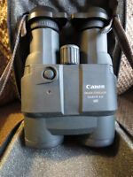 Binoculars, CANON Image Stabilized 15 X 45 IS UD with case