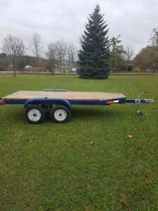 5 x 10 flat bed trailer EUC