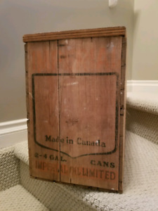 Vintage imperial oil crate