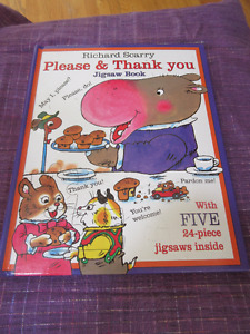 Please and Thank You Jigsaw Book - Richard Scarry