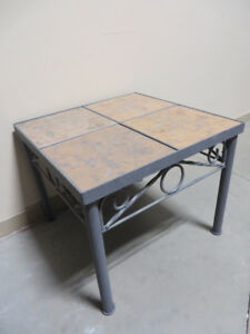 ~~~Brand New Metal Tile End Table