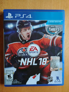 NHL 18 PS4 comme neuf