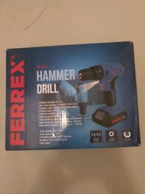 Brand new 14.4v cordless hammer drill