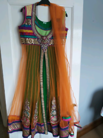 Selection of Asian Anarkali dresses and sarees