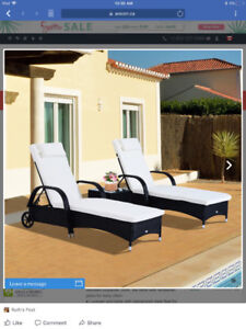 Patio loungers and side table - new in box